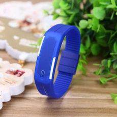 Skaitmeninis, atsparus vandeniui LED sportinis laikrodis su silikonine apyranke