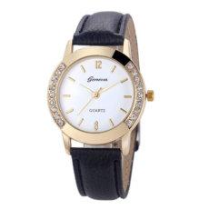 Madingas moteriškas kvarcinis laikrodis su kristalais puoštu korpusu