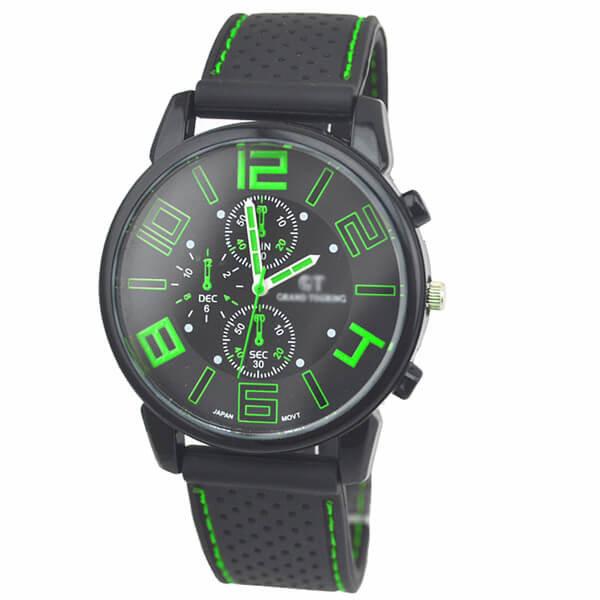 Vyriškas sportinis laikrodis su silikonine apyranke