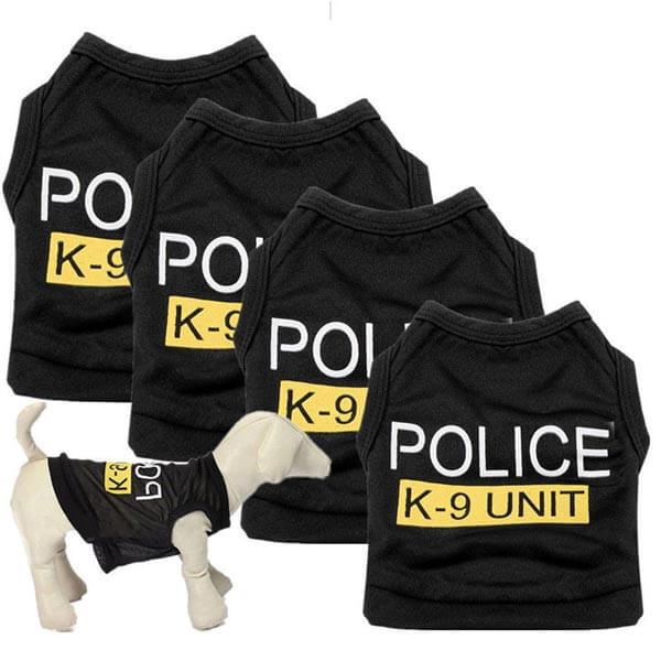 Marškinėliai šunims ir katėms police