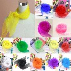 Naturalaus šilko šifono skarelė saldzios lyg saldainiai spalvos