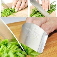 Nerūdyjančio plieno rankų apsaugos nuo peilio skydelis - antpirštis virėjui