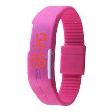 Skaitmeninis atsparus vandeniu LED laikrodis rožinės spalvos