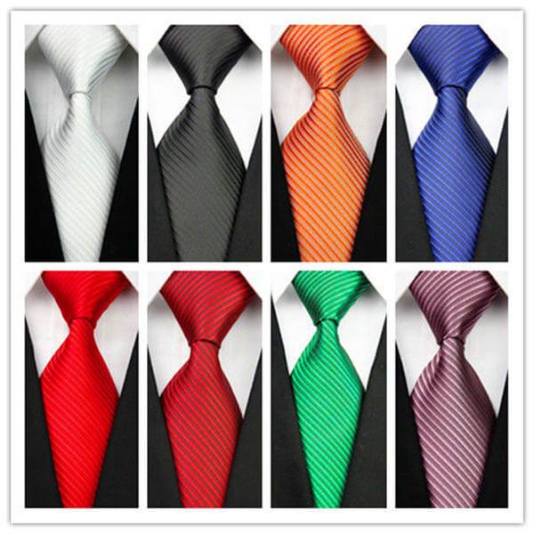 Stilingas, įvairių spalvų, šilkinis vyriškas kaklaraištis