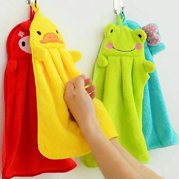 Vaikiškas rankšluostis rankoms pliušinių žaisliukų motyvais